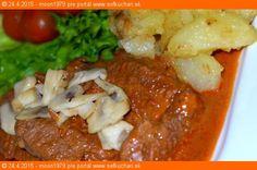 Šťavnatá dusená krkovička Mashed Potatoes, Chili, Soup, Beef, Chicken, Ethnic Recipes, Chile, Chilis, Soups