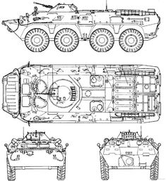 BTR-80_8x8_wheeled_armoured_vehicle_personnel_carrier_Russia_Russian_army_defence_industry_line_drawing_blueprint_001.jpg (640×699)