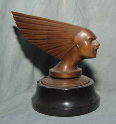 Bronze Art Deco Bust Victoire R Lalique
