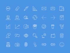 100 Useful Icons Sketch on UI Space