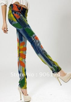 woAH!!!! painted jeans