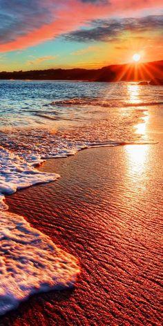 """schöne Sonnenuntergänge am Ende eines gelungen Sommertag! Die beste """"Belohnung""""."""