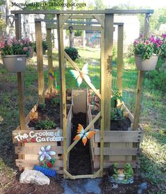 Kid-Size Critter Proof Veggie Garden - I think I need to make one of these for my kids, but with some sort of shade canopy over the top, to protect plants from the Florida sun.  :)