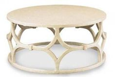 Rowan Coffee Table in Antique Smooth White Painted Finish Also Available in Dark Brown Finish Also Available As