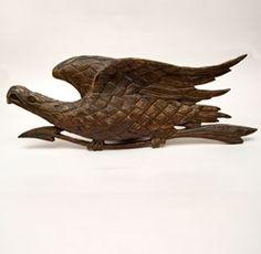 Antique American Patriotic Folk Art War Eagle Carving »
