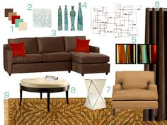 Brown And Red Living Room I Like The Concept Of Colors Ideas Where To Put Them