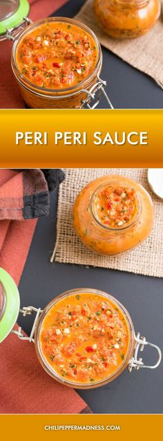Peri Peri Sauce - Make your own peri peri, or piri piri, sauce at home with this recipe. A traditional African sauce made from African Bird's Eye chiles.