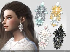 The Sims Resource: Eternal Earrings by toksik • Sims 4 Downloads