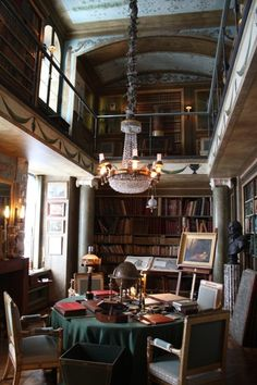 Room of the Day - stunning French two-story library by Jaques Garcia -