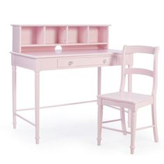 Classic Playtime Spindle Desk and Chair with Optional Hutch - Pink