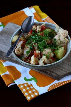 Vegan Cauliflower, Potato & Chickpea Curry: Recipe From Blogging Over Thyme