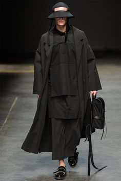 "[MAN. Craig Green]: Outside of the colored pieces, everything else was black or a dark navy. Note the size of the garments. These pieces are very ""flowy."""