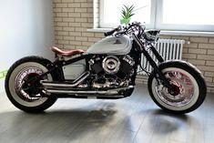 Yamaha V-Star 650 Bobber … Bobber Bikes, Cafe Racer Bikes, Bobber Motorcycle, Bobber Chopper, Motorcycle Style, Concept Motorcycles, Yamaha Motorcycles, Custom Bobber, Custom Bikes