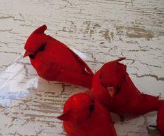 Artificial Birds  SIX Decorative Artificial by BlissfulSilks, $12.99