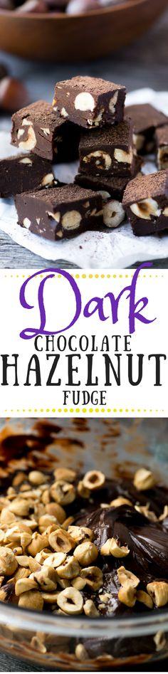 Dark Chocolate Hazelnut Fudge
