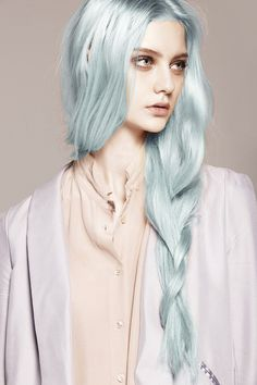 pastel blue hair color