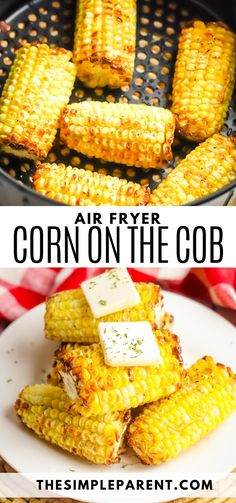 Air Fryer Corn on the Cob is the easiest way to get all the delicious flavor our of your fresh or frozen corn! Try this simple corn side dish! Pair it with chickeh, hamburgers, or hot dogs for cookout taste without a grill! Paleo Keto Recipes, Real Food Recipes, Cooking Recipes, Easy Recipes, Corn On Cob, Frozen Corn, How To Eat Better, Air Fryer Recipes, Food To Make