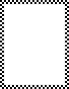 Printable black and white checkered border. Free GIF, JPG, PDF, and ...