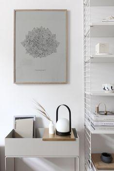 Living Room : Romanesco art print by Coco Lapine Nordic Interior, Minimalist Interior, Interior Styling, Interior Design, String Regal, Deco Addict, Entry Tables, Danish Furniture, Scandinavian Living