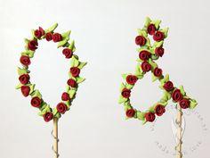 Initialen Text Buchstaben Topper Stick als Tortendeko oder als Deko für Cupcakes, Muffins oder für den Sweettable - Hochzeitstorte - Hochzeit - Hochzeitstortendeko - Hochzeitsidee Muffins, Cupcakes, Jewelry, Wedding Pie Table, Letters, Jewlery, Jewels, Cupcake, Muffin