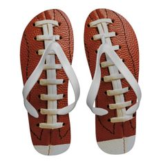 #Football / #Rugby Ball #Sport Themed #FlipFlops from #Ricaso