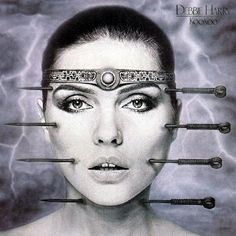 """""""Punk, acupuncture, and sci-fi"""": Blondie's Debbie Harry wearing an airbrushed, form-fitting bodysuit painted by HR Giger, who also directed two of her solo videos and designed the album art for her. Hr Giger, Giger Alien, Blondie Debbie Harry, Peter Blake, Chur, Andy Warhol, Banksy, Pink Floyd, Lps"""