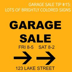 great tips for my next garage sale