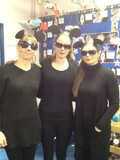 Three Blind Mice!  We used canes to walk with - Easy Peasy.