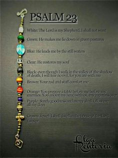 Jewelry Making Bracelets Psalm 23 bracelet with meaning of it: - Christian Crafts, Christian Jewelry, Psalm 23, Idees Cate, Jewelry Crafts, Handmade Jewelry, Bijoux Fil Aluminium, Bracelets With Meaning, Church Crafts