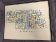 Omaha Nebraska Townsville Cityscape Art by Grey Studios by TownsvilleArt on Etsy https://www.etsy.com/listing/453123200/omaha-nebraska-townsville-cityscape-art