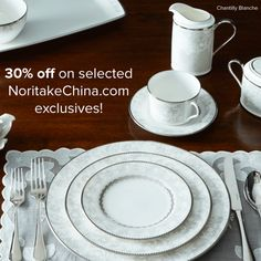 30% off this weekend on patterns exclusive to our website! The discount is applied automatically in the cart. Offers cannot be combined or applied to past orders, and rainchecks are not available. USA only. This offer ends 10/12/15 at 11:59pm PST. #lace #dinnerware #tablescapes #mixandmatch #elegant #wedding #registry