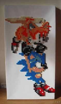 Sonic the Hedgehog and Tails perler beads by karen3367