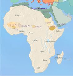 Map of african kingdoms and a brief history of Ghana, Mali and Songai.