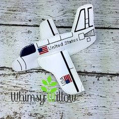 Felt Space Shuttle ITH Embroidery Design