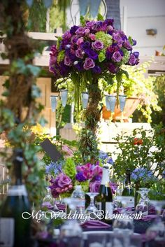 Image detail for -High Purple Wedding Centerpiece - Designing Romantic Centerpieces with ...