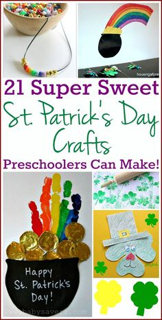 21 easy St. Patrick's Day crafts toddlers and preschoolers can make! #crafts #StPatricksDay