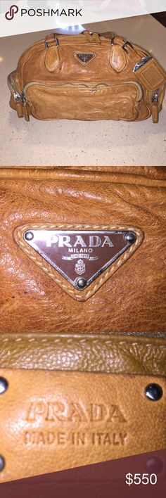 FINAL SALE $ ON THE AUTHENTIC PRADA 👜 HANDBAG!! THIS IS ONE GREAT DISCOUNT !!!!!VINTAGE PRADA is a warm leather brown handbag. This bad is in one word. GORGEOUS !!!. It is a huge bag it's just the right size. I have never seen anyone else showing this PRADA handbag. If you live handbags this is a must!! I only used once or twice, but the beauty of this bag is its patina just gets better and better. Has been in a no smoking house! Men if you are looking for something to give your honey? THIS…