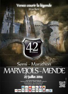 42ème édition  Semi-Marathon Marvejols-Mende Dimanche 27 juillet 2014 #lozere#marathon#sport