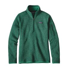 Patagonia Womens Better Sweater 1/4 Zip Fleece Impact Green