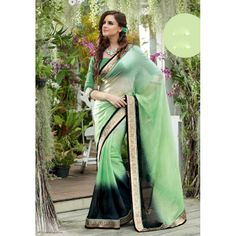 Green Silk Sarees | Stunning Light Green Silk Saree | High5Store.com
