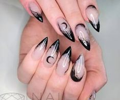 Witchy Nails, Goth Nails, Halloween Nail Designs, Halloween Nails, Halloween Ideas, Ongles Goth, Hair And Nails, My Nails, Best Acrylic Nails