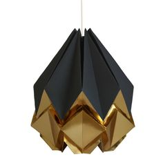 Gold origami lamp ww