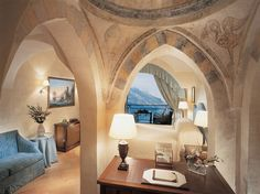 "The Best Hotels in Italy: 12. Belmond Hotel Caruso, Ravello This eleventh-century villa sits high above the town of Ravello overlooking the vertiginous Amalfi Coast. Should you feel like coming down from the heights, there's plenty to see and do here: the hotel will take you to Positano or Pompeii via its boat, Ercole (Italian for ""Hercules"") or you can sign up for a three-hour guided Vespa tour of the town by night"