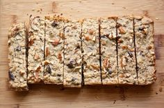 Oatmeal Breakfast Bars    2 cup oats  1 cup whole wheat flour  1/4 teaspoon salt  1 teaspoon baking powder  1/4 cup peanut butter  3 tablespoons brown sugar  1/4 cup neutral oil  1 egg  1 1/2 cup milk or almond milk  1 teaspoon vanilla  1/2 cup semisweet chocolate chunks or chips  3/4 cup pecans or walnuts, coarsely chopped