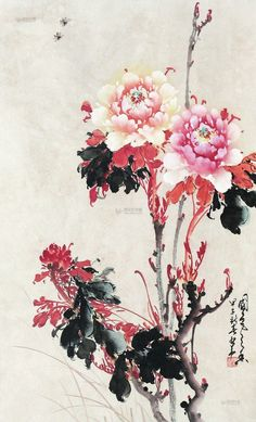 1984年作 富贵牡丹 Peony Painting, Ink Painting, Chinese Prints, Japanese Woodcut, Japan Painting, Chinese Brush, China Art, Art For Art Sake, Japan Art