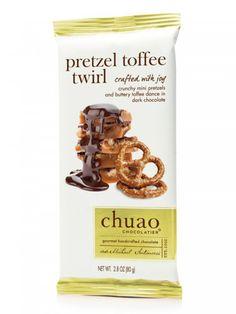Pretzel Toffee Twirl Bar, Chocolate Bars, Bars - Chuao Chocolatier