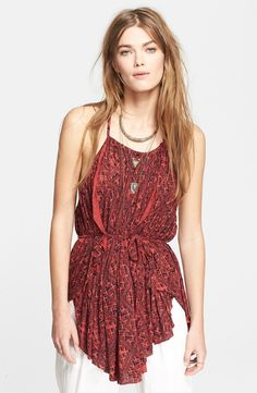 Free People 'Double Dutch' Strappy Print Tunic