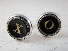 Cufflinks for my man :) We are always signing notes, tests, and e-mails with XOXO. <3 Would be great for his tux/dress shirt.