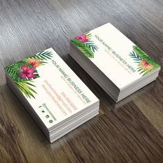 Custom Business Card Design Floral Business Cards by thelovelylyss
