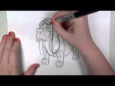 Familia Basset Hound: Aprenda a desenhar um Basset hound.